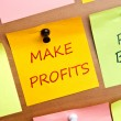 Make profits — Stock Photo