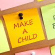 Make a child — Stock Photo