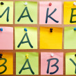 Make a baby — Stock Photo