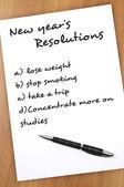 Resoluções de ano novo — Fotografia Stock