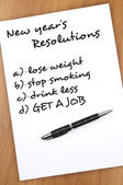New year resolutions — Stock Photo