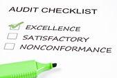 Checklista för revision — Stockfoto