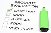 Product evaluation — Stock Photo