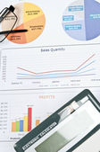 Financial paper — Stock Photo