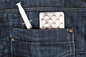 Jeans pocket — Stock fotografie