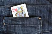 Jeans pocket — Stock Photo