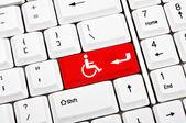 Handicap-schlüssel — Stockfoto