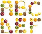 письма из фруктов — Стоковое фото