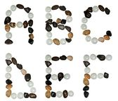 Letters made of stones — Stock Photo