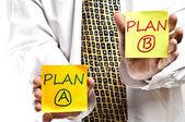 Plano a e plano b — Foto Stock