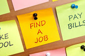 """Find a Job"" post it — Stock Photo"