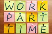 Werken part-time advertentie — Stockfoto