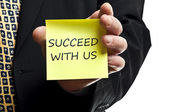 Succeed with us — Stock Photo