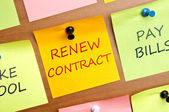 Renew contract — Stock Photo