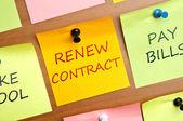 Renew contract — Stock Photo