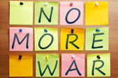 No more war — Foto Stock