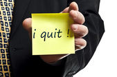 I quit post it — Stockfoto