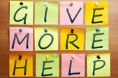 Give more help — Stock Photo