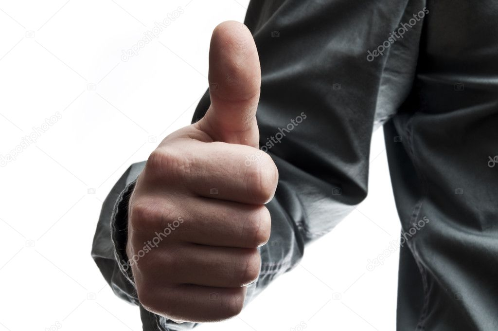 Business man showing ok sign — Stock Photo #6234999