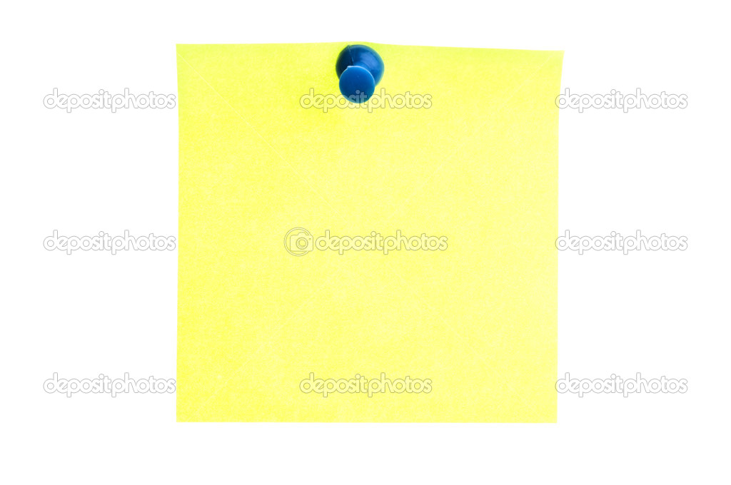 Isolated empty yellow post it — Stock Photo #6239224