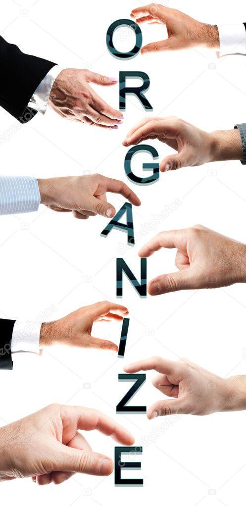 Organize word — Stock Photo © fuzzbones #6239734