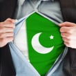 Pakistan flag on shirt - Stock Photo