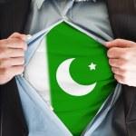 Pakistan flag on shirt — Stock Photo