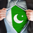 Stock Photo: Pakistflag on shirt