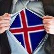 Iceland flag on shirt — Foto de Stock