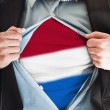 Holland flag on shirt — Stock Photo