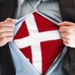 Denmark flag on shirt — Stock Photo #6240133