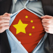 Royalty-Free Stock Photo: China flag on shirt