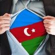 Stock Photo: Azerbaijflag on shirt