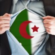 Algeria flag on shirt — Stock Photo