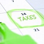 Taxes mark — Stock Photo