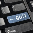 Quit key — Stock Photo