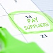 Pay suppliers mark — Stock Photo
