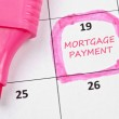 Mortgage payment mark — Stock Photo