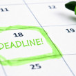 Deadline mark — Stock Photo