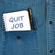 Stock Photo: Quit job message