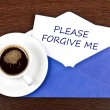 Forgive me message — Stock Photo #6240430
