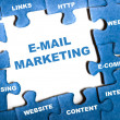 E-mail marketing puzzle - Foto Stock