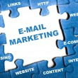 E-mail marketing puzzle - Foto de Stock