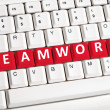 Stock Photo: Teamwork word on keyboard