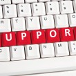 Support word on keyboard — Stock Photo