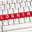 Stock Photo: Blogging word on keyboard
