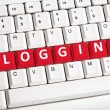 Blogging word on keyboard — Stock Photo
