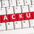 Backup word on keyboard — Stock Photo #6240503