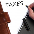 Taxes message — Foto Stock