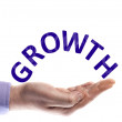 Growth word — Stock Photo